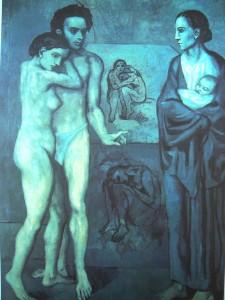 """picasso."""" la vie"""". 1903"""