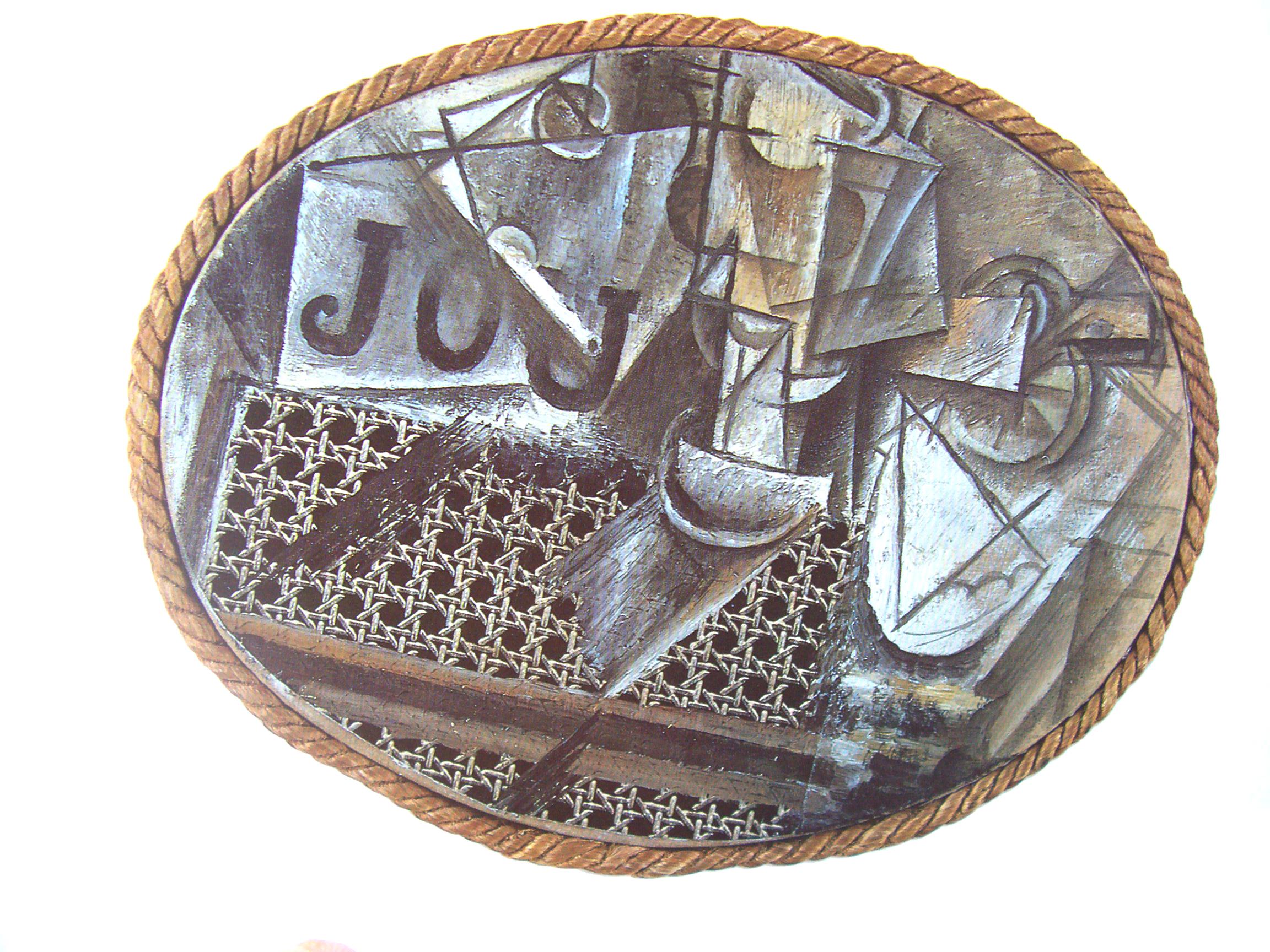 1908 cubisme de picasso et braque hugues absil - Picasso nature morte a la chaise cannee ...