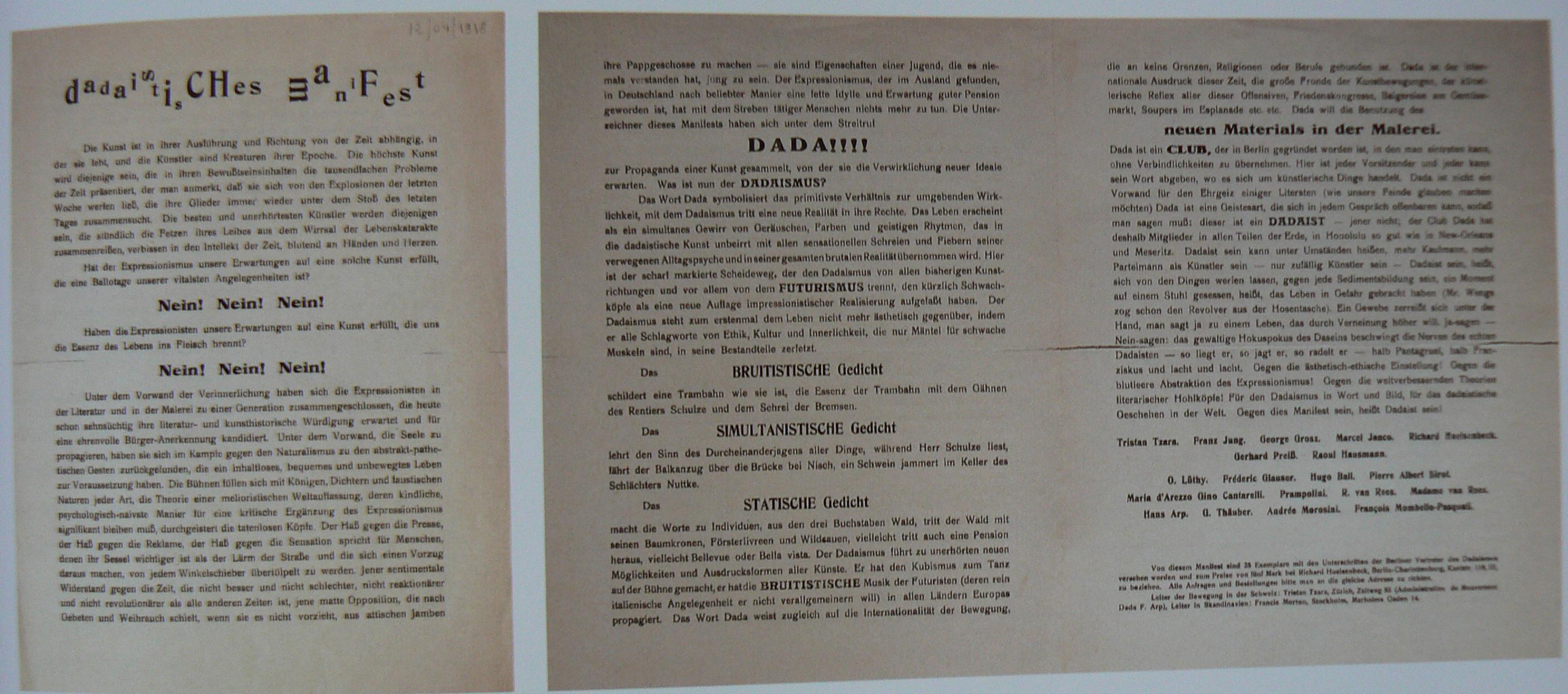 370.huelsenbeck. manifeste dada 1920