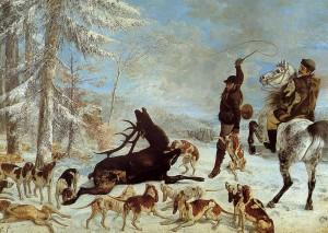 L'Hallali du cerf 1866-1867 355x505cm