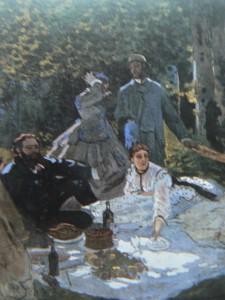 """""""déjeuner sur l'herbe"""" de Monet"""
