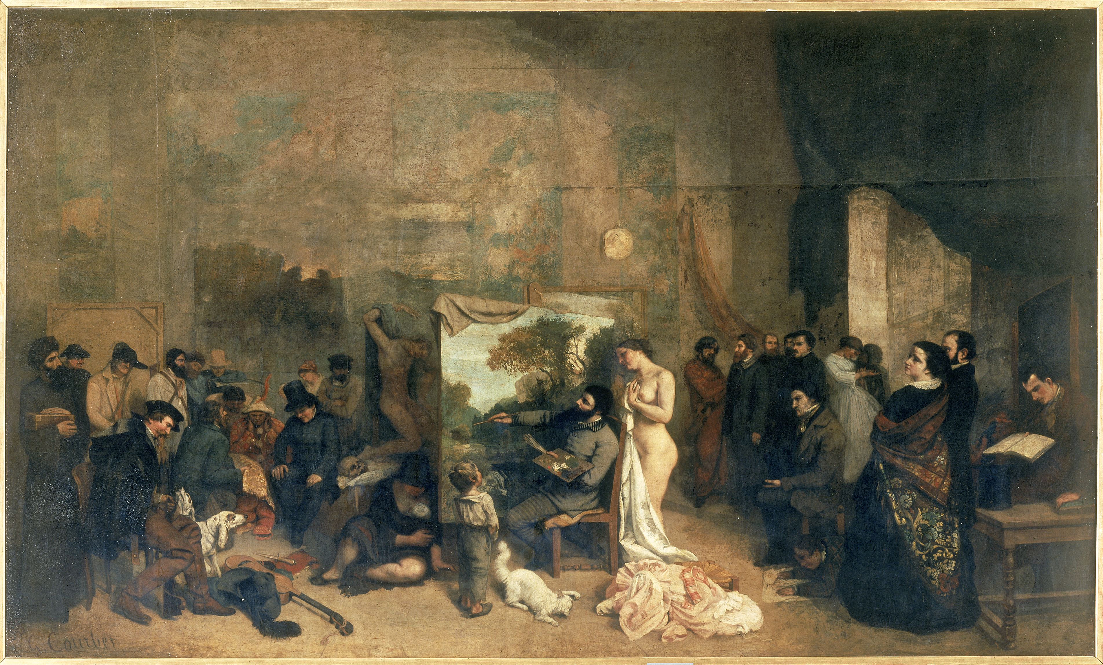 Courbet hugues absil - Atelier artiste peintre ...
