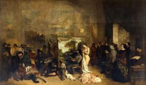 l'atelier du peintre.1855