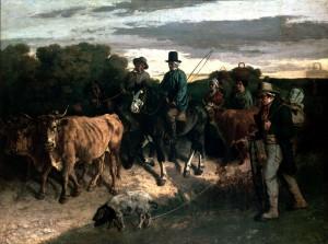 Les Paysans de Flagey revenant de la foire  1850