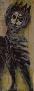 la reine lithographie 93L07 33,5X13