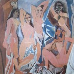 """""""les demoiselles d'avignon.""""(Picasso 1907 243x233 moma)"""