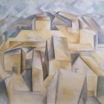 maison s sur la colline à Horta de Ebreo. 1909 été. Picasso