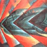 Russolo. dynamisme d'une automobile. 1912-13