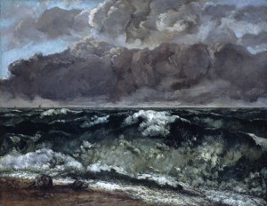 Courbet - la vague' - 1870'