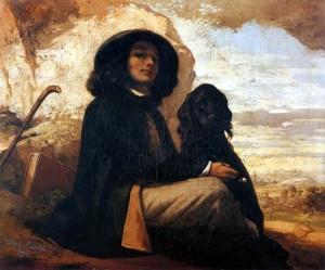 autoportrait au chien noir. 1842