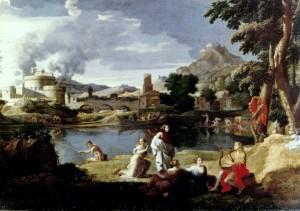 Nicolas Poussin, Orphée et Eurydice, 124x200, 1650, musée du Louvre