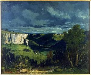 Courbet. La vallée de la Loue par temps d'orage. 1849