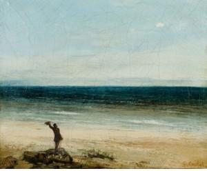 le bord de mer à Palavas. 1854