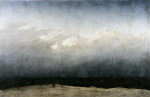 caspar david friedrich. moine au bord de la mer.1808-09.j