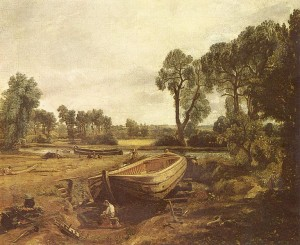 """péniche en construction"". 1815 Victoria and Albert Museum"