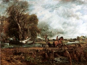 """Constable """"le cheval sautant"""". 1825"""