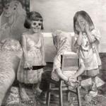 """JÉRÔME-ZONDER_ """"jeu d'enfant"""" .2010.mine-de-plomb-sur-papier.160x160"""