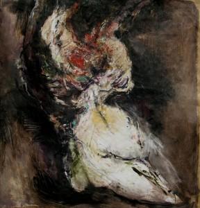 """""""2005 #25"""" - Huile sur papier marouflé sur toile, 120 x 130 cm"""