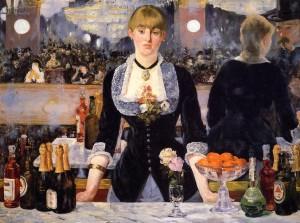 """""""le bar au folies Bergères"""" de Manet (1881-82)"""