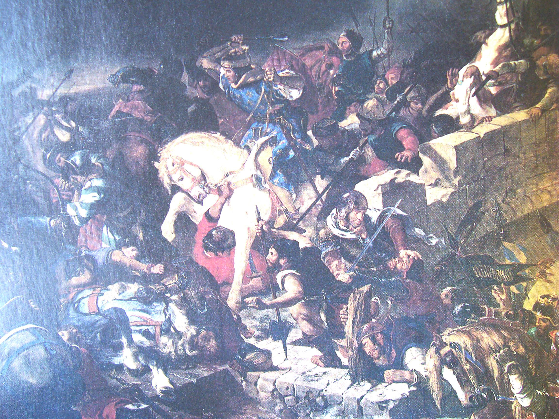 la bataille de Taillebourg par Delacroix