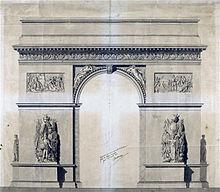 l'harmonie dominant la discorde, scultpure de Récipon en 1900