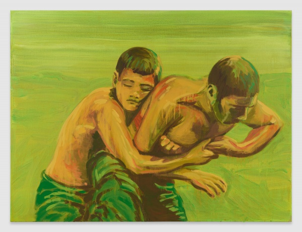 almine-rech-gallery-i-am-crying-because-you-are-not-crying-claire-tabouret-the-grip-2018-acrylic-on-canvas-97-x-130-cm-38-14-x-51-18-inches-courtesy-of-the-artist-and-almine-rech-gallery-photo