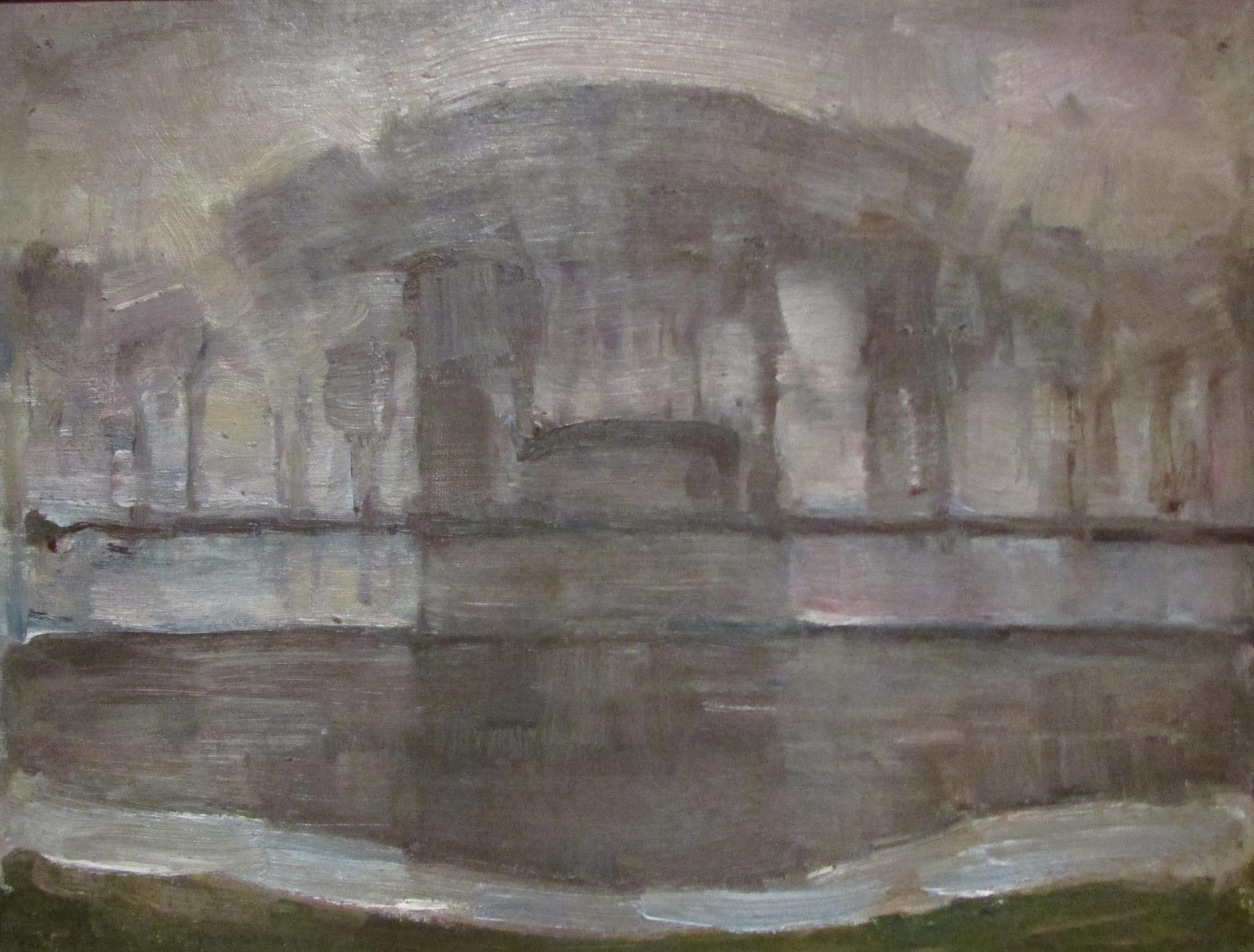 12. Mondrian. la ferme Geinrust dans la brume. 06-07.. kunstmuseum den Haage
