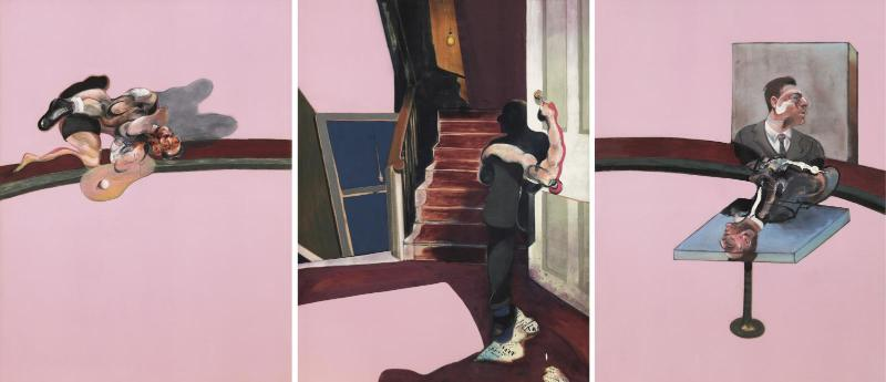 6.Francis Bacon, In Memory of George Dyer (1971)