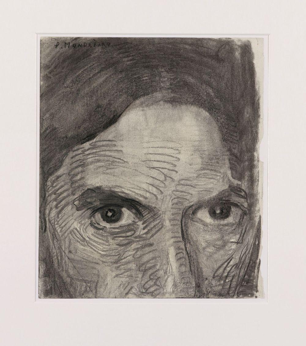 22. autoportrait. 08. fusain et crayon noir sur papier. kunstmuseum den Haag'